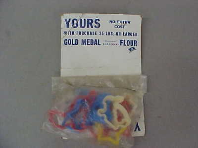 Vintage General Mills Gold Medal Flour Cookie Cutters Give-Away Premium  7 Pcs.