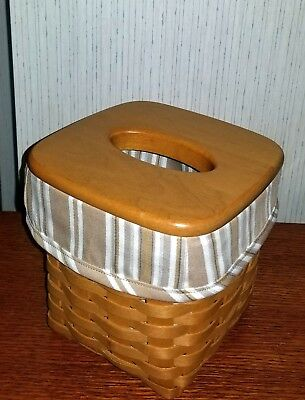 Tall Tissue Basket Liner from Longaberger Washed Linen fabric.  New & Rich