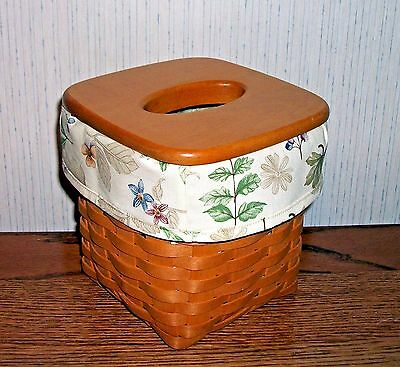 Tall Tissue Basket Liner from Longaberger Botanical Fields fabric.  New & Crisp