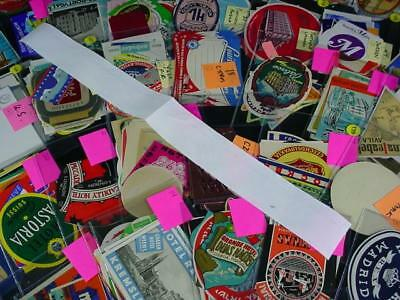 NobleSpirit {3970} Massive 2,253x Collection of WW Baggage & Travel Labels