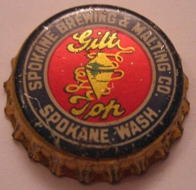 Spokane Brewing & Malting Co. Beer Bottle Cap; 1935-37; Spokane, Wa; Used Cork