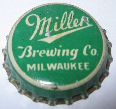 Miller Brewing Co. Beer Bottle Cap; 1935-38; Milwaukee, Wi; Used Cork
