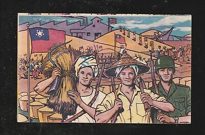 Burma POSTCARD 1968 ISSUED PEASANT DAY COMMEMOMRATIVE, RARE