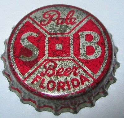 S-B Silver Bar Pale Beer Bottle Cap; 1949-50; Tampa, Fl; Fl Tax Seal; Used Cork