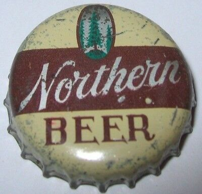 NORTHERN BEER BOTTLE CAP; 1955-60; SUPERIOR, WI; USED CORK, pine tree
