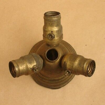 Antique Brass Ceiling Mount Cluster Bryant 3-Sockets Fixture,Hanging Light