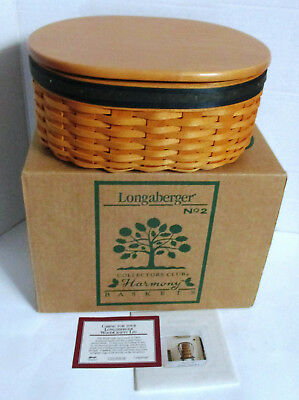 Longaberger Harmony No2 Collectors Club New Box Lid Card 3 pc protector