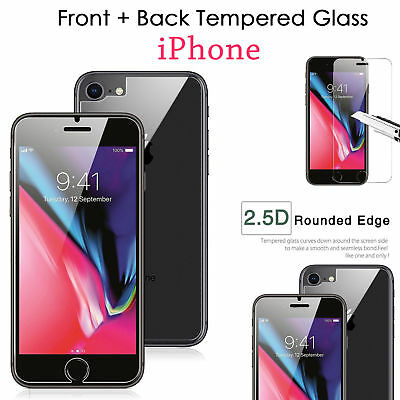 For iPhone XS Max XR Tempered Glass Screen Protector Front Back LCD Guard Film