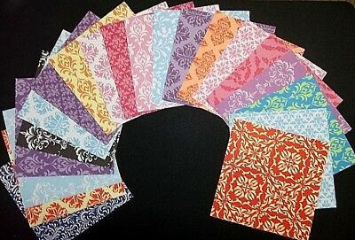 "**DAMASK ** 20 Beautiful Scrapbooking/Cardmaking  Papers..15cm x 15cm (6"" x 6"")"
