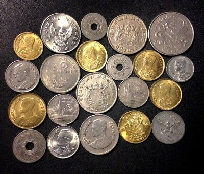 Old Thailand Coin Lot - 1929-PRESENT - 21 High Quality Older Coins - Lot #F17