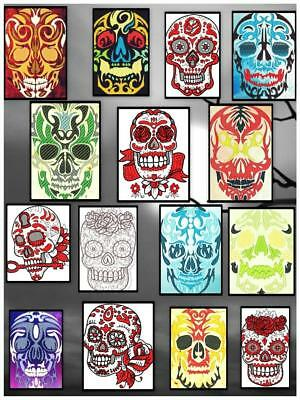 Tribal Skulls  1 And 2 20  Machine Embroidery Designs Cd