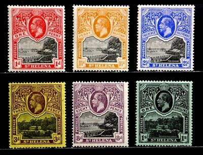 St. Helena, British: 1912-16 Classic Era Unused Stamp Collection Sound Cv $38.00