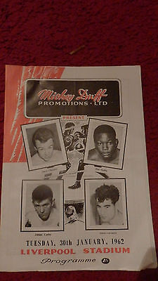 Boxing Programme-Dave Charnley V Jose Stable 1962-Liverpool Stadium