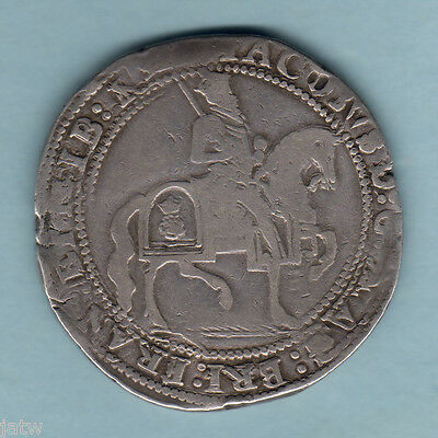 Great Britain. (1624) James 1 - Crown..  3rd Coinage..  MM-Trefoil..  gF/aVF