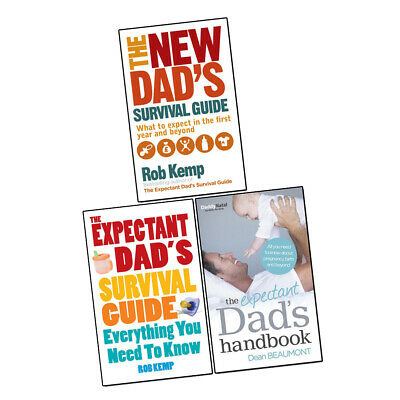 Rob Kemp Expectant Dad's Survival Guide, Expectant Dad's Handbook 3 Books Set