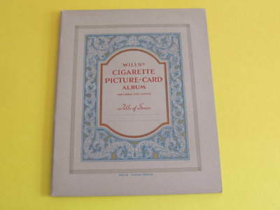 Original Wills Cigarette Picture Card Album Unused 20 pages plus cover