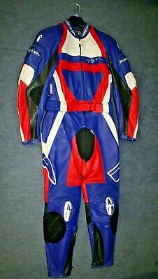 Womens Richa 2 Piece Purple Red White Black Leather Motorcycle Suit