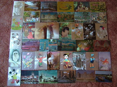 39 SHINY, DUFEX TYPE Postcards. 1980's onwards. Used and Unused.