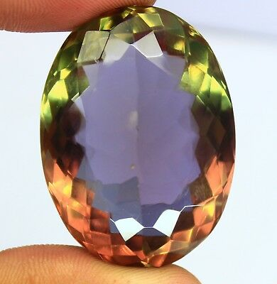 130.40Ct EGL Certified Shiny Oval Cut Color Changing Alexandrite Gemstone AT2310