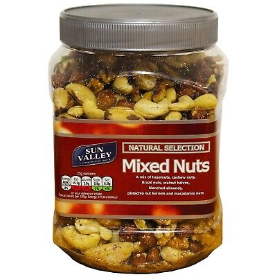 Sun Valley Natural Selection Mixed Nuts - Large 1 Kg Tub - UK Savoury Snacks