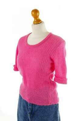 Vintage orig 70er PUCCI Neon Pulli Pullover Strick Top pink Mohair S M
