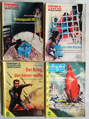 Utopia Grossband Nr.152, 153, 164, 187 - Konvolut Pabel Romane Science Fiction