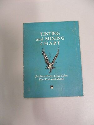 Vintage Eagle Tinting & Mixing Paint Color Chart Brochure (A3)