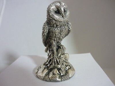 Stunning Vintage Sterling Silver Owl By Country Artists Original Box