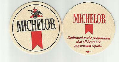 """Lot Of 5 Michelob  Beer Coasters - A-B Of St. Louis, MO #1858  """"Dedicated to"""""""