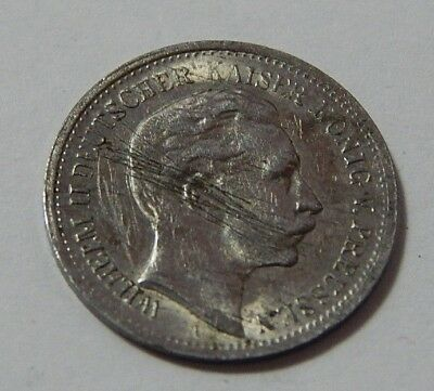 1910 Germany  Silver 5 Mark Coin
