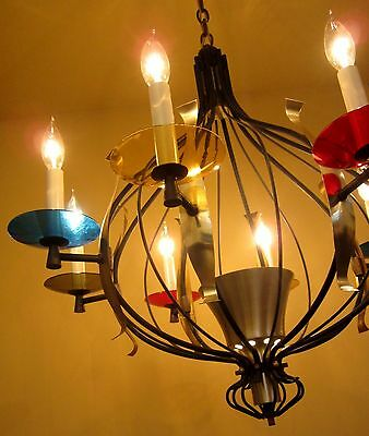 Vintage Lighting extraordinary mid-century Lightolier chandelier