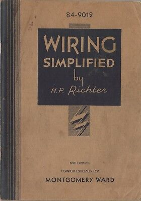 Wiring Simplified by H. P. Richter, Montgomery Wards, 1932 based on 1931 US Code