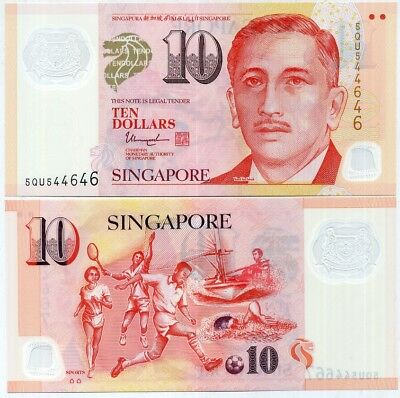 Singapore 10 Dollars 2016 P New Polymer W/2 Hollow House Unc