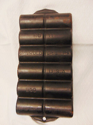 Vintage #11 Griswold 950A Cast Iron Muffin French Roll Erie PA