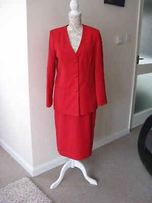 Red 2 Piece Suit By Daxon Size 12