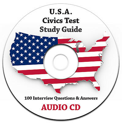 NEW 2018 US Citizenship Test Questions/Answers Study Guide Audio CD-ENGLISH USA