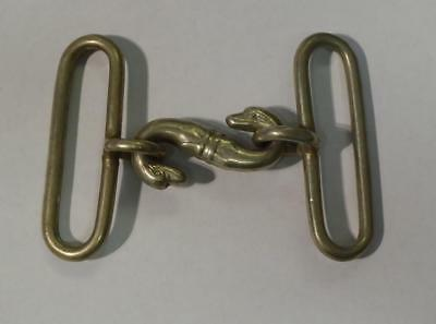 19Th Century Antique Victorian Snake Belt Buckle (Also Used In 1St World War)