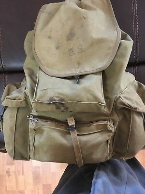 WWII military original backpack canvas rucksack 1941 Meese Inc