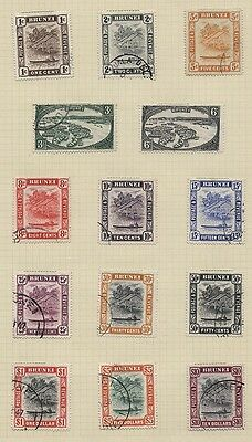 BRUNEI  62-75 used set complete 1947-51  CV 87.45 U.S.