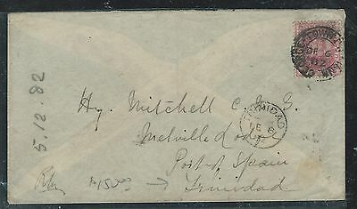 British Guiana (Pp1906B) 1902 Ship On Cover To Trinidad