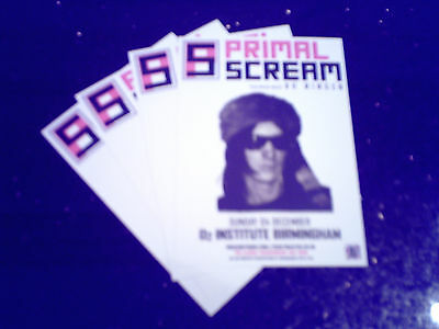 "PRIMAL SCREAM - ""CHAOSMOSIS"" UK TOUR 2016 (4 x PROMO SHOW CARDS)"