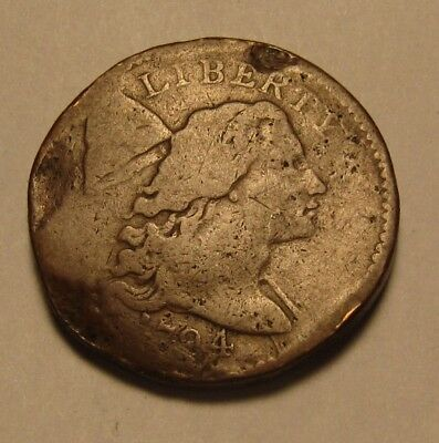 1794 Flowing Hair Large Cent Penny - Circulated Condition - 46SA