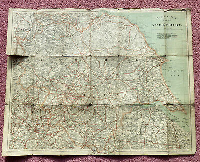 Vintage Bacon'smap Of Yorkshire