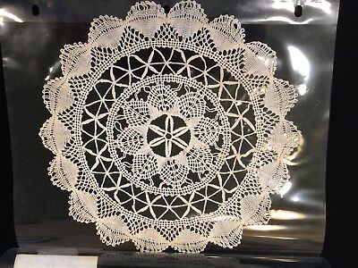 Group of Five (5) Antique Bobbin Lace Doilies Circa 1860 with Provenance