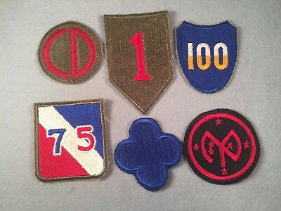 WW2 US Army Infantry Division SSI Patch Lot x6 512G
