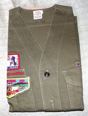 1964 Boy Scouts Of America Eagle Scout O/a Lodge 101 Collarless Shirt
