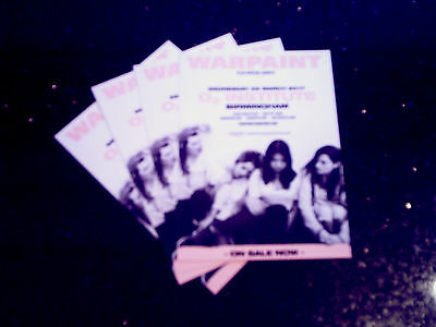 WARPAINT - UK TOUR 2017 (4 x PROMO SHOW CARDS)