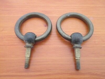 Antique Pair Of Reclaimed Victorian Brass Drop Pull Handles