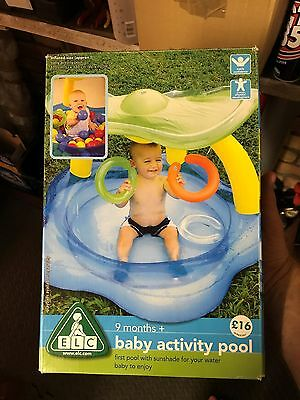Baby Activity Pool Paddling Water Play Balls with Sunshade 9 months by ELC
