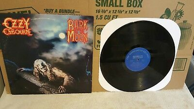 Original 1983 Ozzy Osbourne Bark At The Moon Lp Cbs Records More Records Listed!